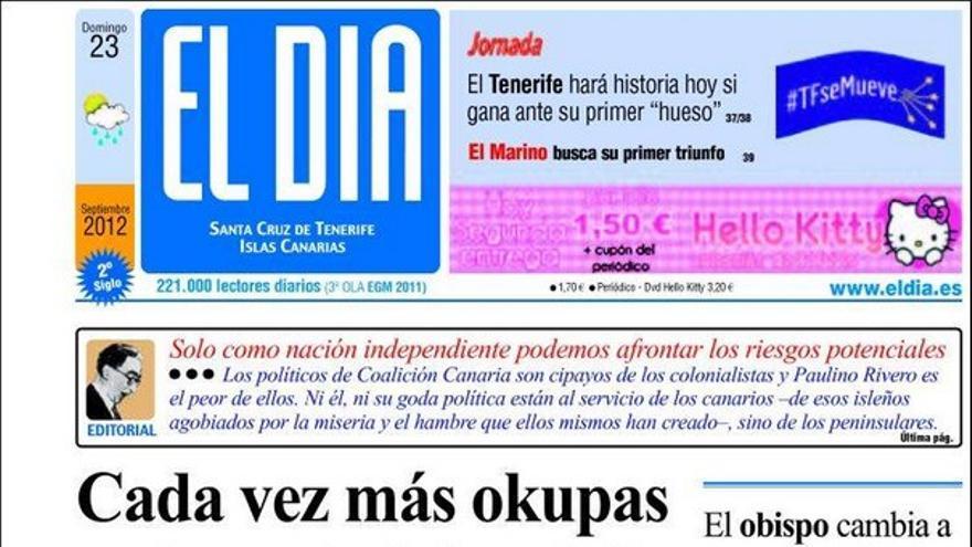 De las portadas del día (23/09/2012) #3