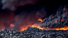 El incendio de Seseña está liberando grandes cantidades de sustancias tóxicas y metales pesados