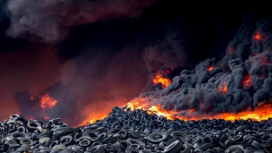 Imagen del incendio de Seseña / Ismael Herrero