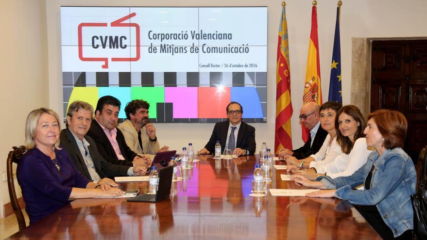 El consejo rector de la Corporació Valenciana de Mitjans de Comunicació (CVMC).