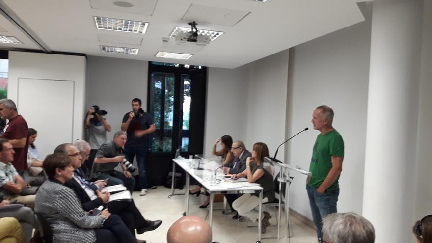 El independiente David Campión, presidente de la Mancomunidad de la Comarca de Pamplona con el voto de PSN y EH Bildu