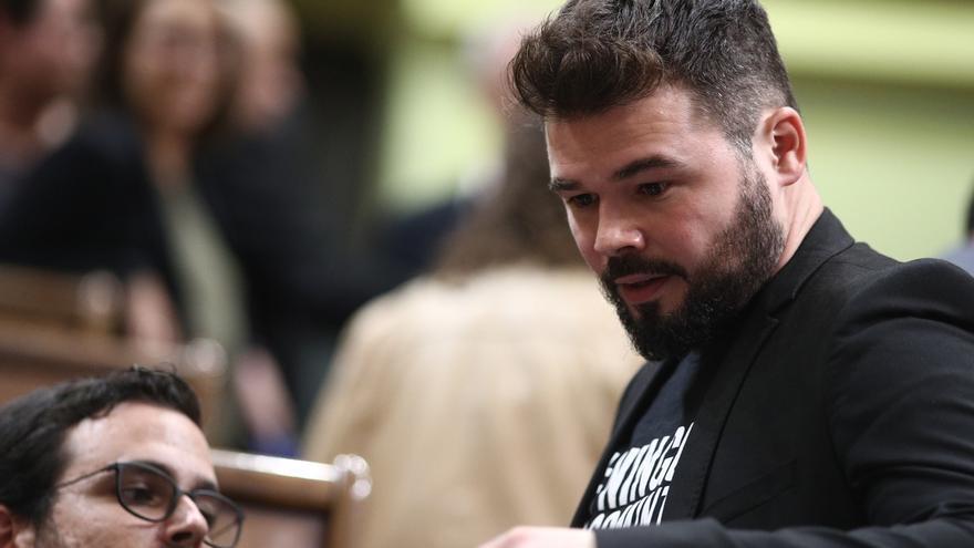 "Rufián (ERC) cree que Sánchez (PSOE) ""llega tarde"" a reconocer Catalunya como nación"