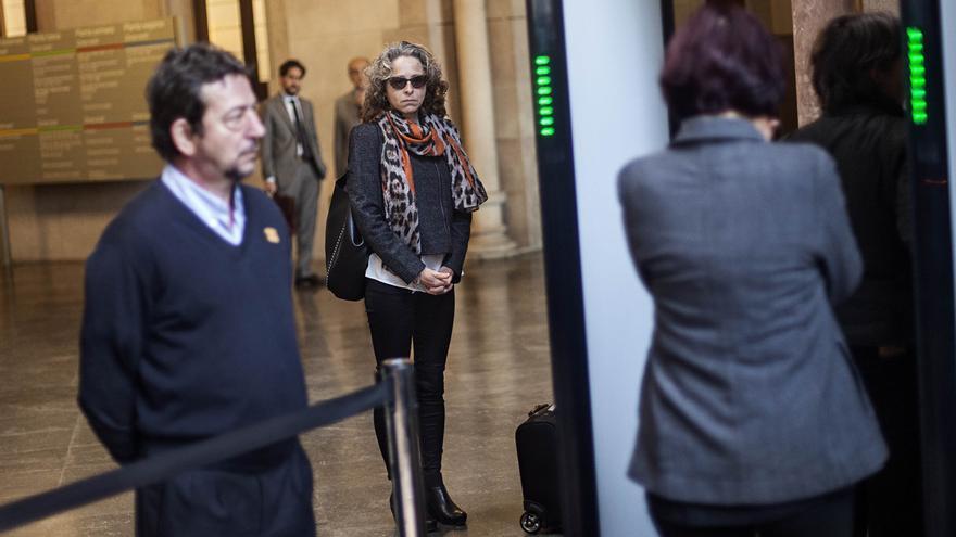 Ester Quintana llega al tribunal a declarar