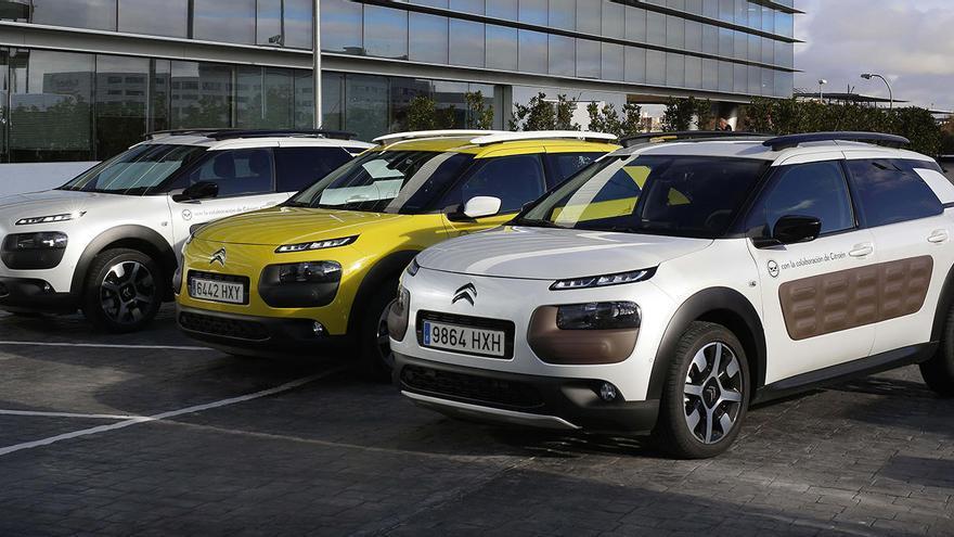Vehículos de la marca Citroën en un concesionario