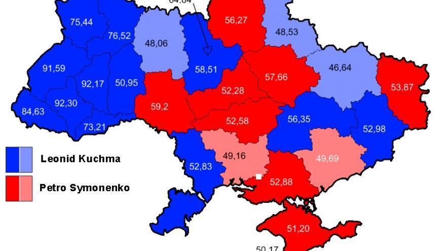 Resultado de las elecciones presidenciales de Ucrania de 1999.