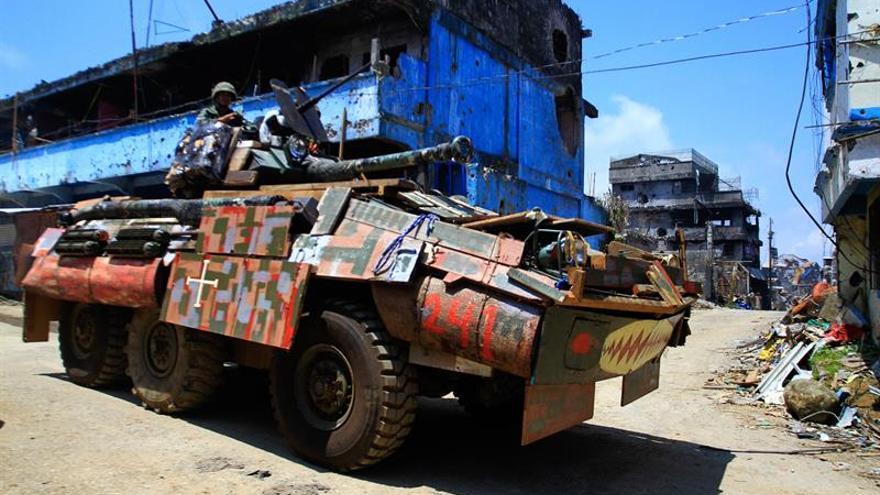 Los yihadistas de Marawi, recluidos en un área 20 hectáreas, según el ejército filipino