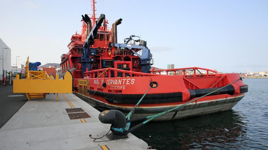 El buque Miguel de Cervantes.