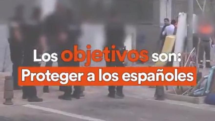Fotograma del vídeo difundido por Ciudadanos