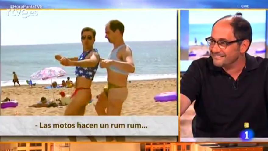 Jordi Sánchez recuerda en 'Hora Punta' su baile playero en tanga