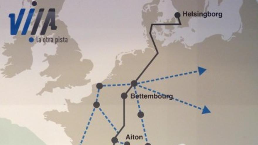 Mapa del corredor mediterráneo.