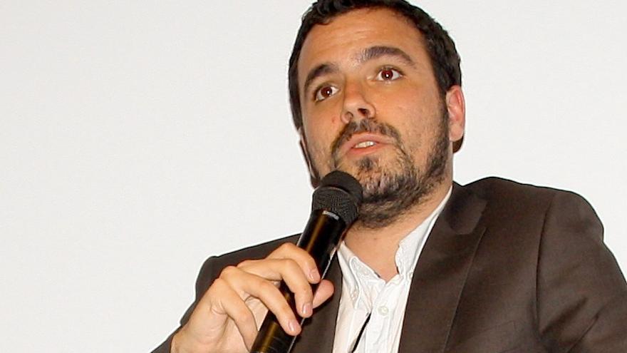 Alberto Garzón, durante su intervención en Berlín / S.G.