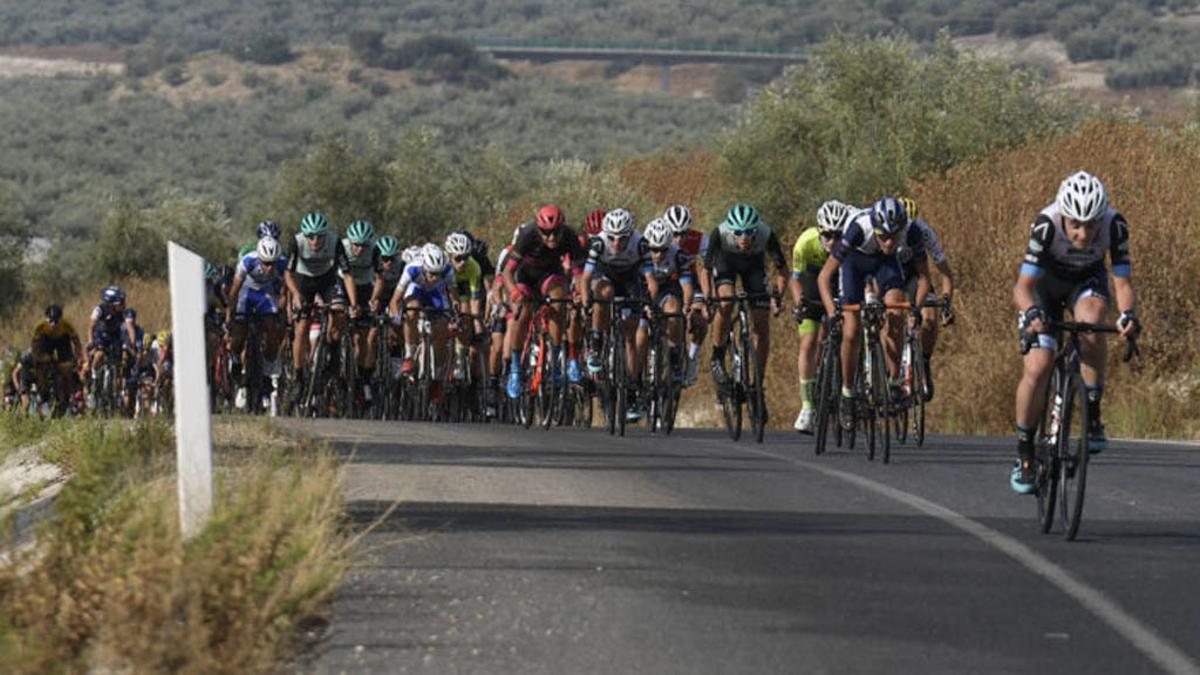 Ciclistas compiten en la primera edición de la Challenge Subbética