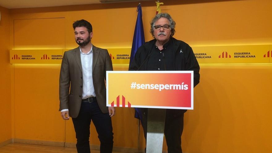 """ERC presenta su eslogan 'Sin permiso' frente a un Estado """"que no quiere cambiar"""""""