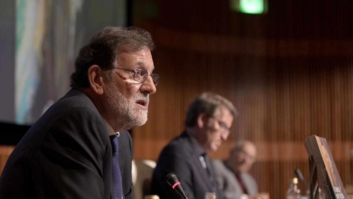 Mariano Rajoy durante la presentación de las memorias del jurista José Manuel Romay, en A Coruña el pasado 18 de septiembre.