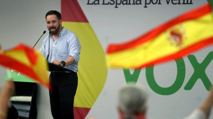 Santiago Abascal, en un acto durante la campaña electoral.