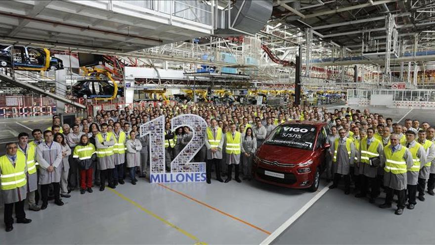 PSA Vigo celebra la producción de su vehículo 12 millones