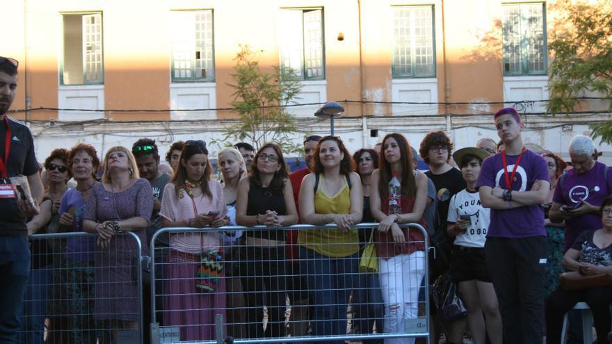 1200 personas acudieron al acto de Unidos Podemos en el Cuartel de artillería
