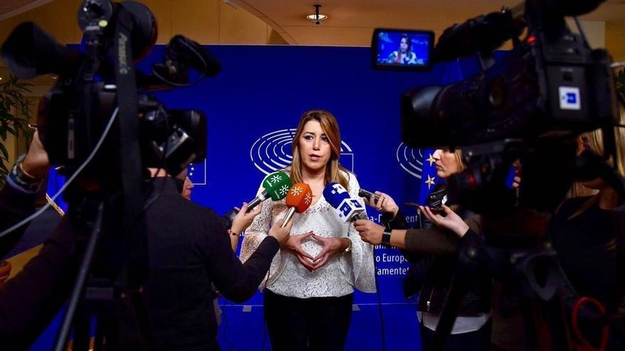 """Susana Díaz valora """"el compromiso"""" de la CE con el sector de la aceituna negra de mesa, con el que se reunirá el martes"""