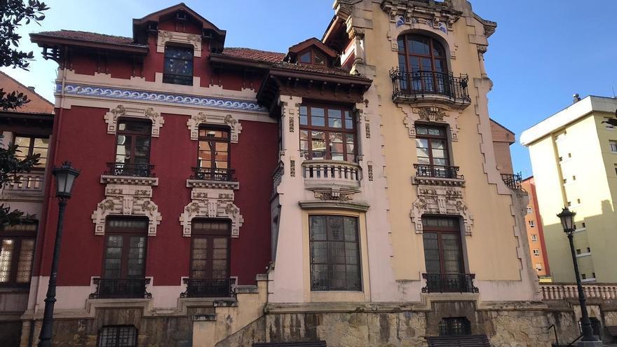 Palacete de la Avenida de Galicia, antiguo Sanatorio Miñor, en Oviedo.