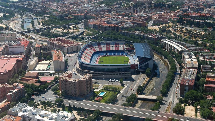 """Vista aérea del terreno de la operación """"Nuevo Mahou-Calderón"""""""