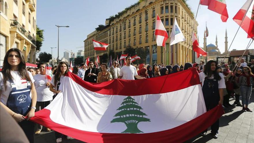 Varias protestas marcan el 72 aniversario de la independencia del Líbano