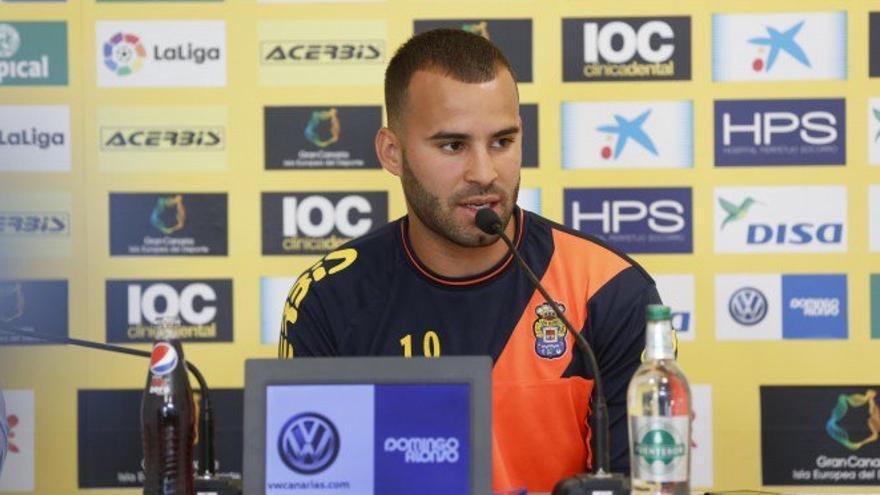 Jesé Rodríguez durante una rueda de prensa.