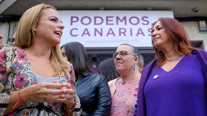 La candidata a las primarias de Podemos Canarias Noemí Santana.