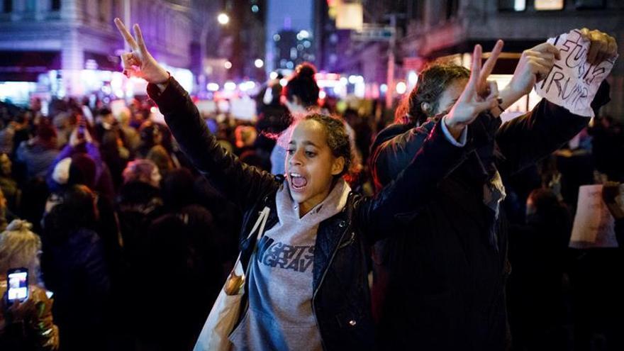 Manifestaciones en Nueva York contra la elección presidencial de Donald Trump