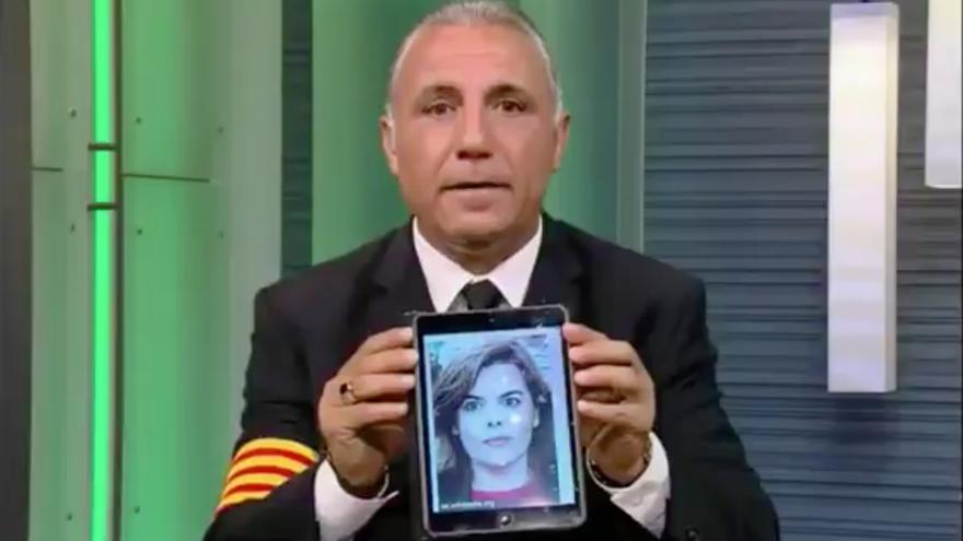 Hristo Stoichkov, durante el programa de televisión.