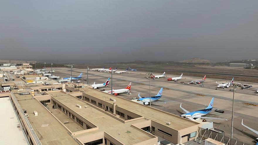 Aeropuerto de Gran Canaria, este lunes