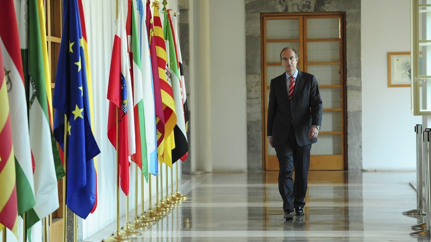 José Antonio Cagigas preside este lunes su último pleno de la legislatura. | Foto: PARLAMENTO DE CANTABRIA