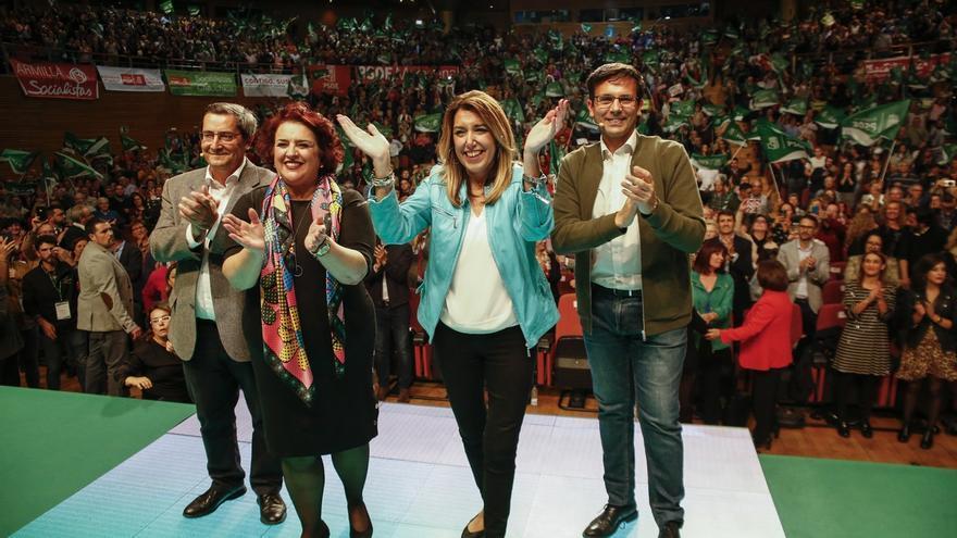 """Susana Díaz pide a los andaluces que acudan masivamente a las urnas para contestar a la derecha que """"nos insulta"""""""