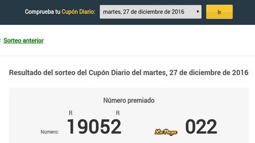 Cupón Diario del martes 27 de diciembre de 2016