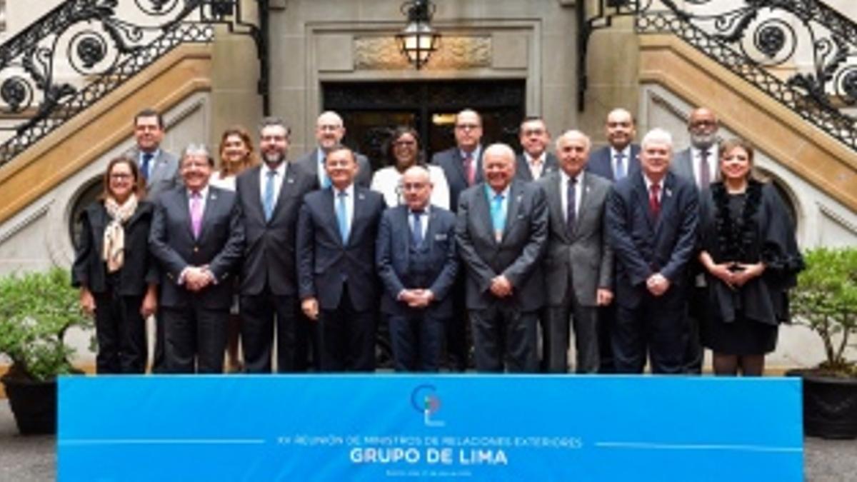 Los cancilleres del Grupo de Lima, reunidos en julio de 2019