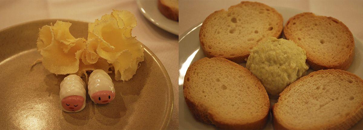 Humberts con queso y aperitivo de queso y puerros_La Fondue de Tell_Malasaña a mordiscos