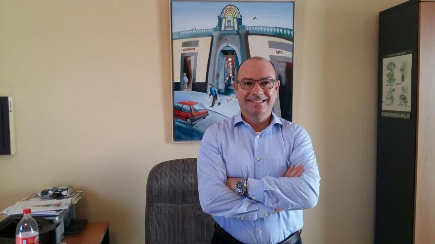 El gerente del Mercado de Vegueta, Santiago Bolaños.