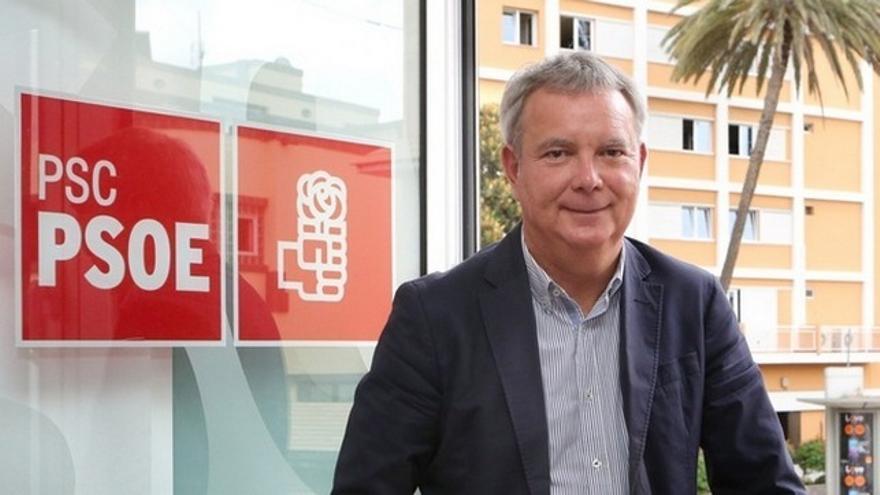 Sebastián Franquis, secretario general de la Agrupación Socialista de Las Palmas de Gran Canaria