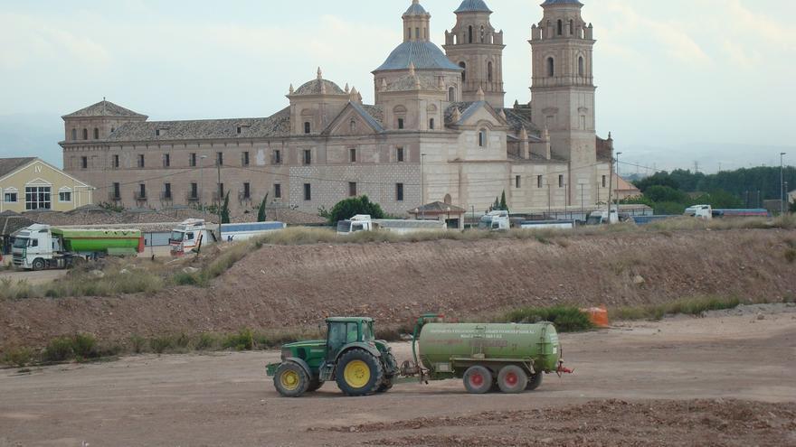 Obras en el Campus de la UCAM, en el Monasterio de los Jerónimos.