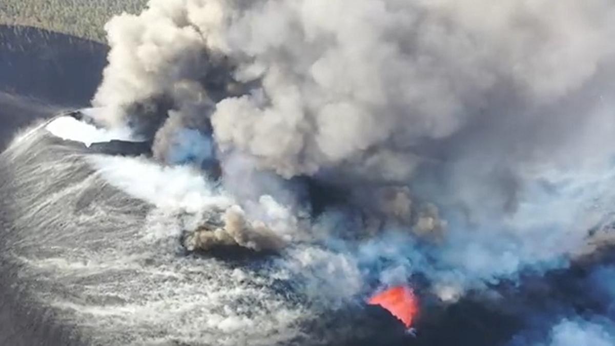 Nueva boca en el volcán de La Palma. (Involcán)