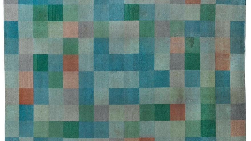 Tapiz de Gertrud Arndt, 1927. Foto: Markus Hawlik © VG Bild-Kunst Bonn 2019.