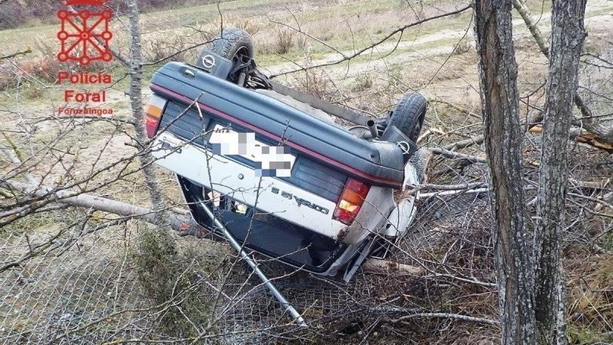 Policía Foral atiende 25 accidentes de tráfico este fin de semana