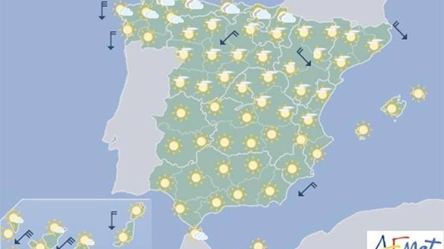 Hoy, temperaturas altas en zonas mitad sur peninsular y Canarias