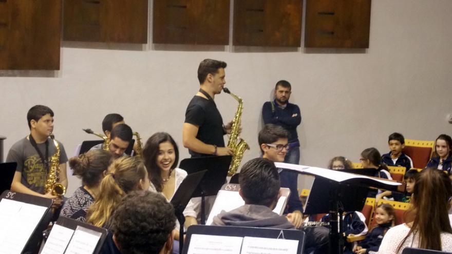Actuación durante las jornadas de puertas abiertas del pasado curso