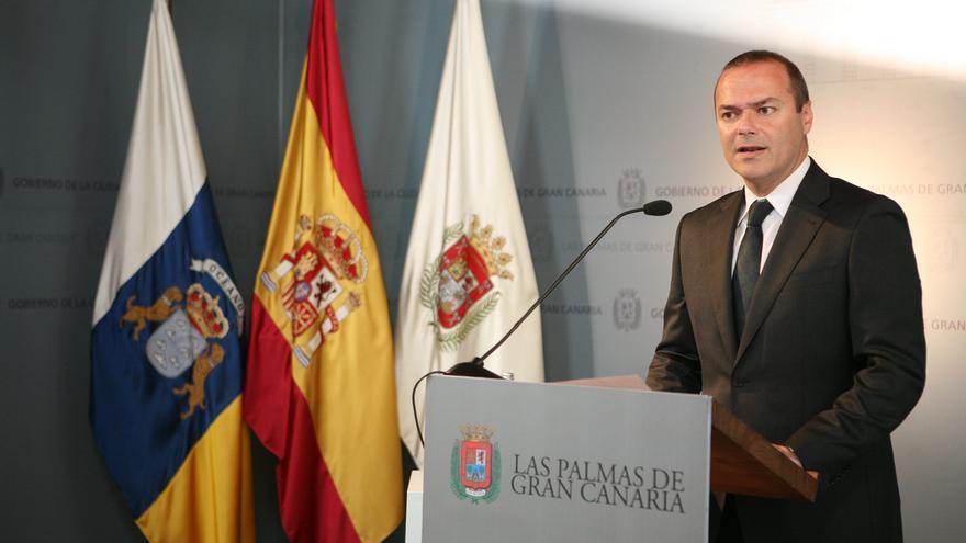 El alcalde de Las Palmas de Gran Canaria, Augusto Hidalgo (ALEJANDRO RAMOS)