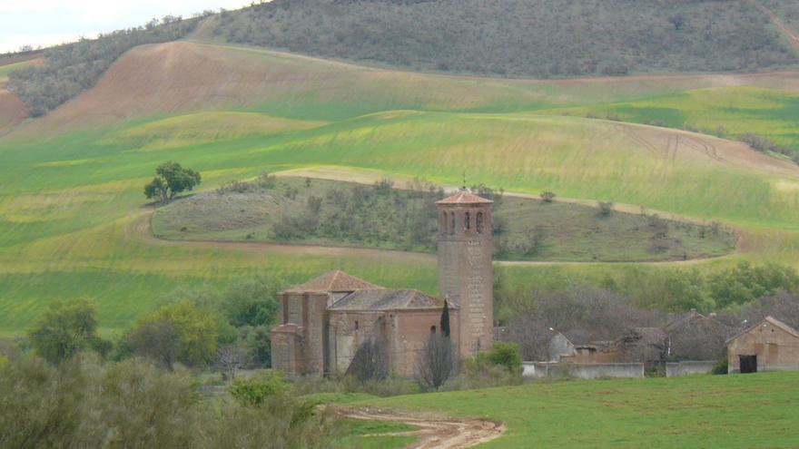 Vista del pueblo Fresno de Torote, en Madrid.