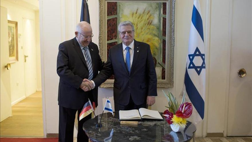 El presidente alemán visita Israel para celebrar 50 años de relaciones
