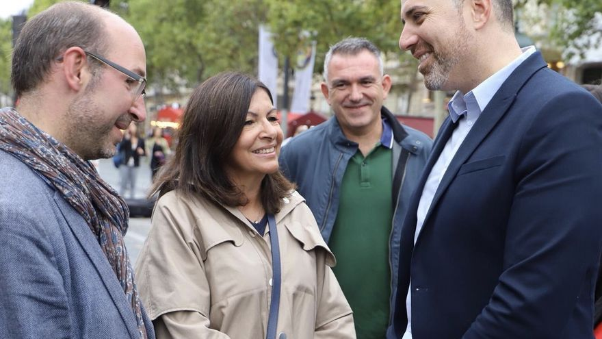 Anne Hidalgo y Jordi Mayor en París
