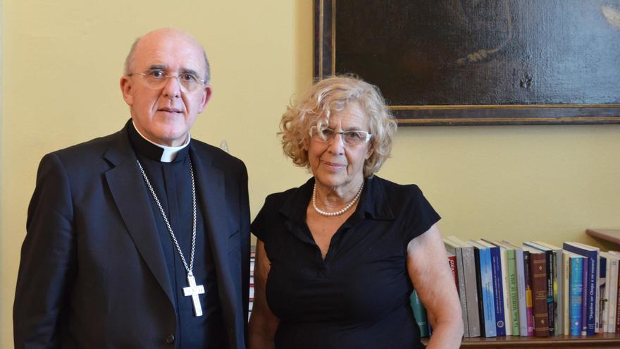 El arzobispo de Madrid y Manuela Carmena, en su primera reunión oficial