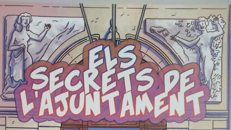 Imagen del cómic presentado sobre el Ayuntamiento de Valencia