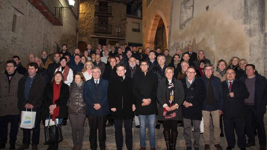 Celebración en Morella (Castellón) del décimo aniversario de la creación de la mancomunidad de la Taula del Sénia. Imagen cedida por la Taula del Sénia.
